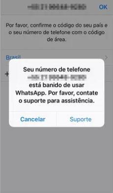 banimento whatsapp