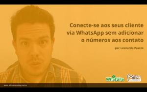Como conversar no WhatsApp sem adicionar número aos contatos